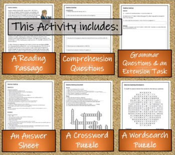 Stephen Hawking - 5th & 6th Grade Close Reading Activity