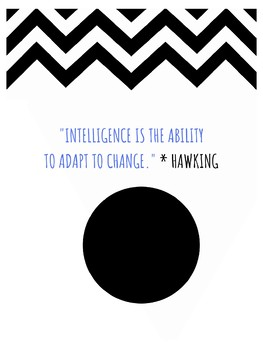 Stephen Hawking STEM Growth Mindset Poster theoretical physicist, cosmologist