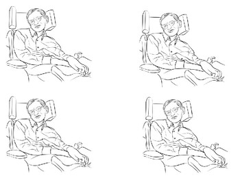 Stephen Hawking coloring picture