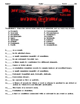 Stephen King's It: Chapter 6 Assessment