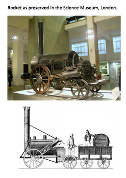 Stephenson's Rocket 1829 Word Search