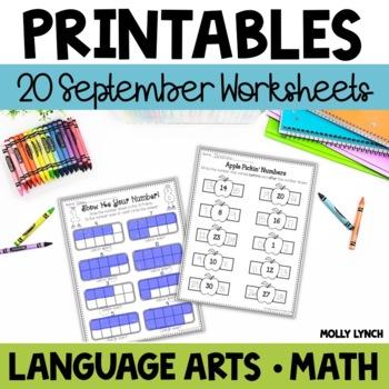 September NO PREP Printables!