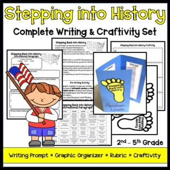 Stepping Back in History Writing and Craftivity Set
