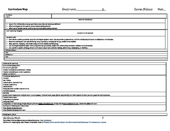 Stepping Stones grade 5 modules 1-12 curriculum map for the year plans
