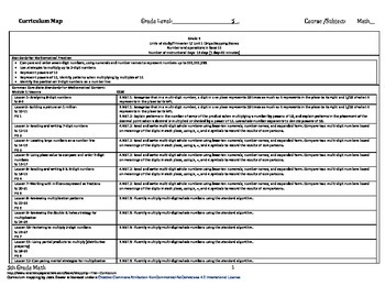 Stepping Stones grade 5 modules 1-12 curriculum map for th