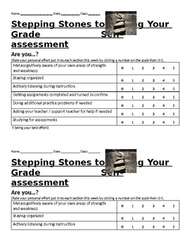 Stepping Stones to Raising your Grade Self-assessment