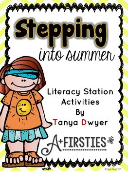Stepping into Summer {Literacy Stations}