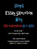 Steps Essay Skeleton Key (EZ elaboration Gr.4-GED)