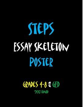 """Steps Essay Skeleton Poster (11""""x25"""")"""