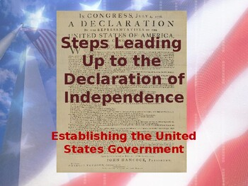 Establishing the US Government - Events Leading to the Declaration