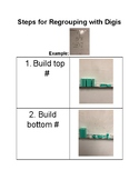 Steps for Addition Regrouping with Digi blocks
