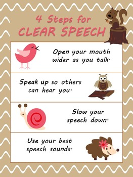 Steps for Clear Speech Poster