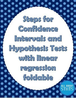 Steps for Inference with Linear Regression Foldable