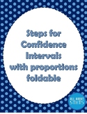 Steps for Confidence intervals with proportions Foldable