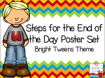 Steps for Dismissal Poster Set Bright Tweens Theme