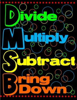 Math Division Poster