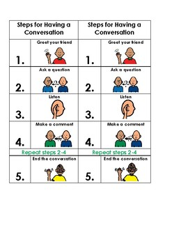 Steps for Having a Conversation