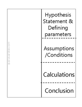 Steps for Hypothesis testing with proportions Foldable
