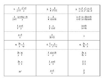 Steps for Multiplying & Dividing Basic Rational Expressions