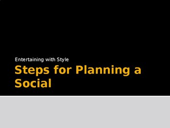 Steps for Planning a Social Event