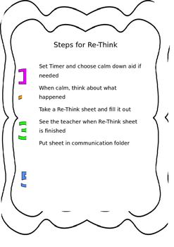 Steps for Re-Think/ Time out table