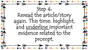 Steps for Responding to a Text Based Analysis Writing Prompt