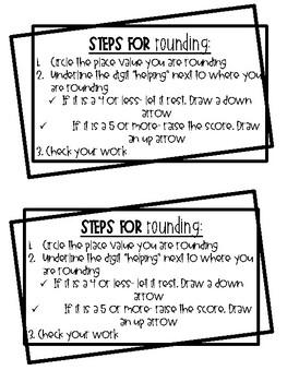 Steps for Rounding