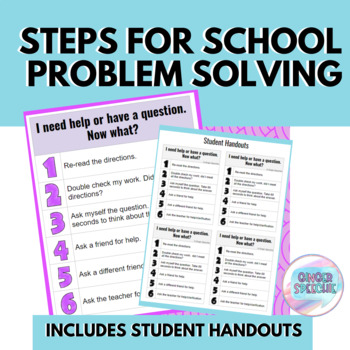 Steps for School Problem Solving | Poster & Handouts