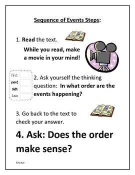 Steps for Sequence of Events