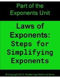 Laws of Exponents:  Steps for Solving Exponential Expressi