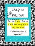 Steps for Solving Story Problems poster