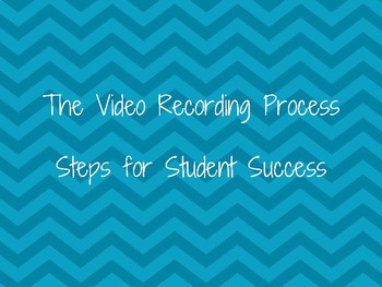 Steps for Success in the Filming Process Printable