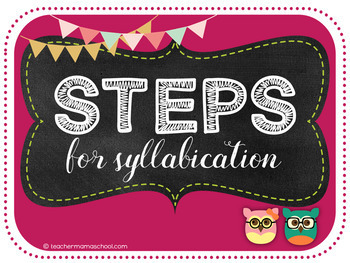 Steps for Syllabication (Orton-Gillingham) - VCCV pattern PowerPoint (FREE)