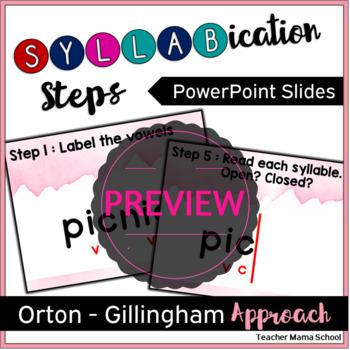 Steps for Syllabication (Orthon-Gillingham) - VCCV pattern