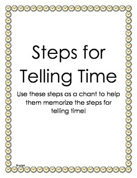 Steps for Telling Time