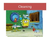 Steps for cleaning a room