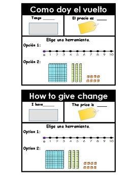 Making change STEPS in English and Spanish