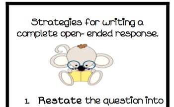 Steps for responding to open ended questions bookmark