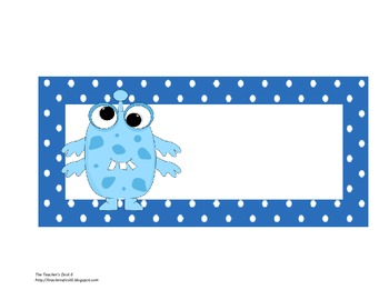 Steps for the Beginning of the Day Polka Dot Monster Theme