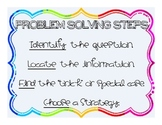 Steps for the Math Problem Solving Strategies