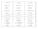 Steps in Completing the Square