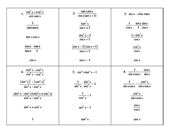 Steps In Simplifying Trig Expressions By Mathematics Active Learning