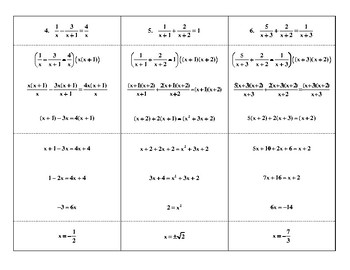 Steps in Solving Rational Equations