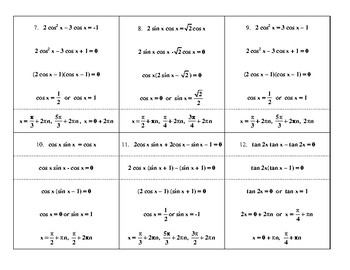 Steps in Solving Trig Equations
