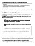 Steps in the Writing Process:  Revising a Body Paragraph Practice