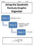 Steps of Quadratic Formula Graphic Organizer