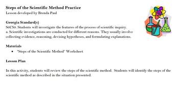 Steps of the Scientific Method Practice