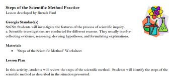 Steps of the Scientific Method Practice