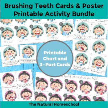 picture about Printable Tooth Brushing Chart identified as Ways in direction of Brushing Tooth for Boys and Women (Printable Chart/3-Element Playing cards)