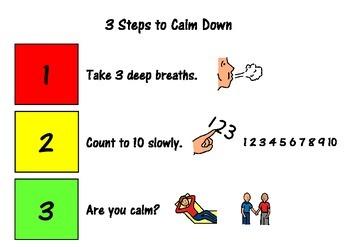 Steps to Calm Down Social Story